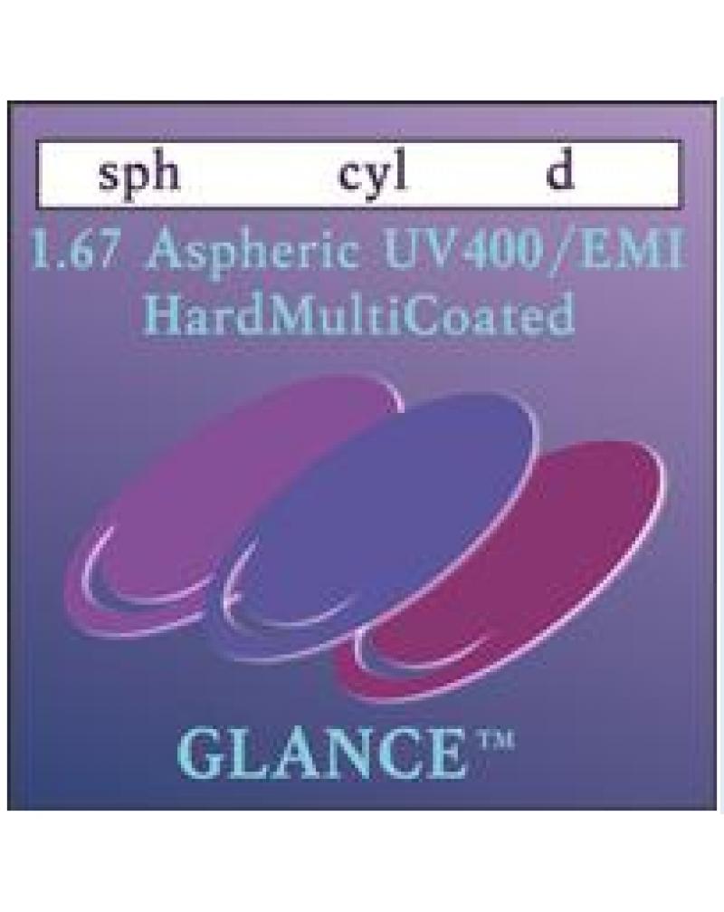 Glance 1.67 AS HMC/EMI/UV400 Линза астигматическая асферическая