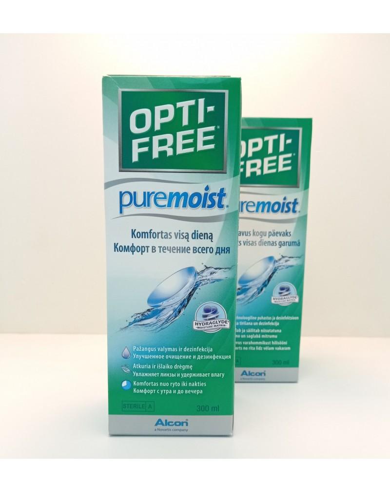 Раствор для контактных линз Opti-Free Puremoist 300мл