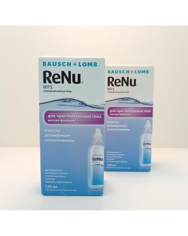 Раствор для контактных линз Renu MPS 120мл