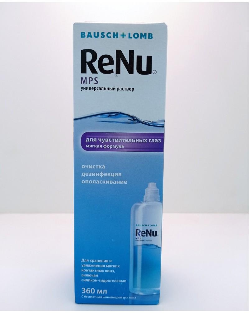 Раствор для контактных линз Renu MPS 360мл