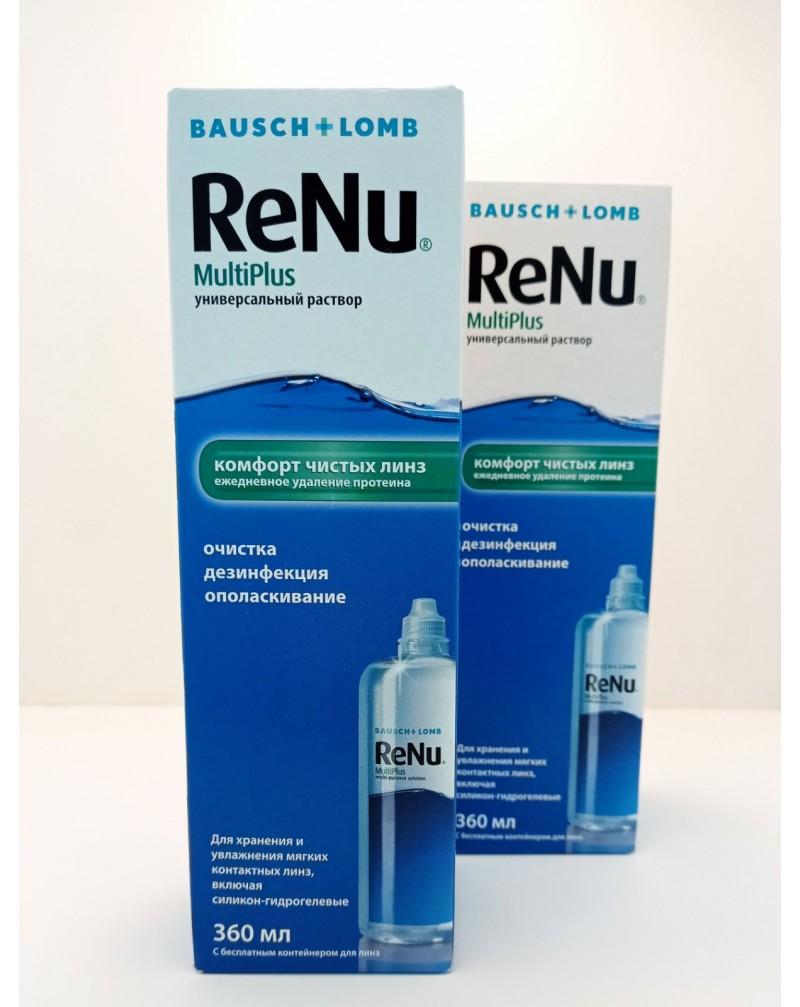 Раствор для контактных линз Renu MultiPlus 360мл