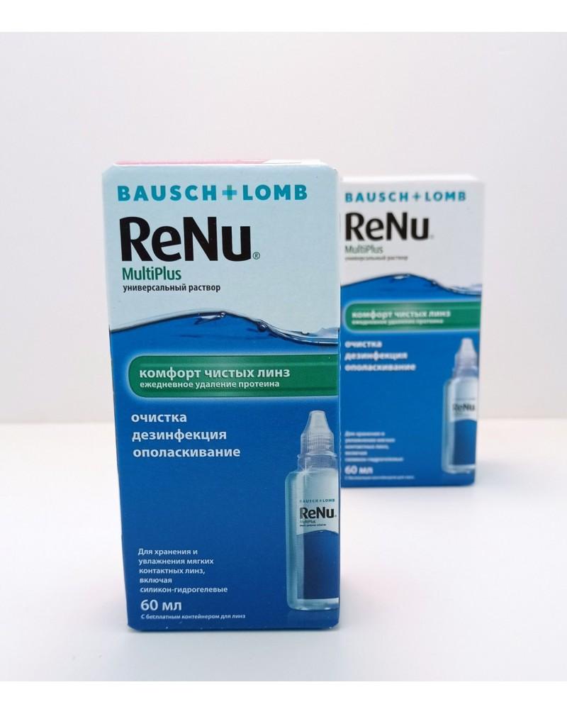 Раствор для контактных линз Renu MultiPlus 60мл