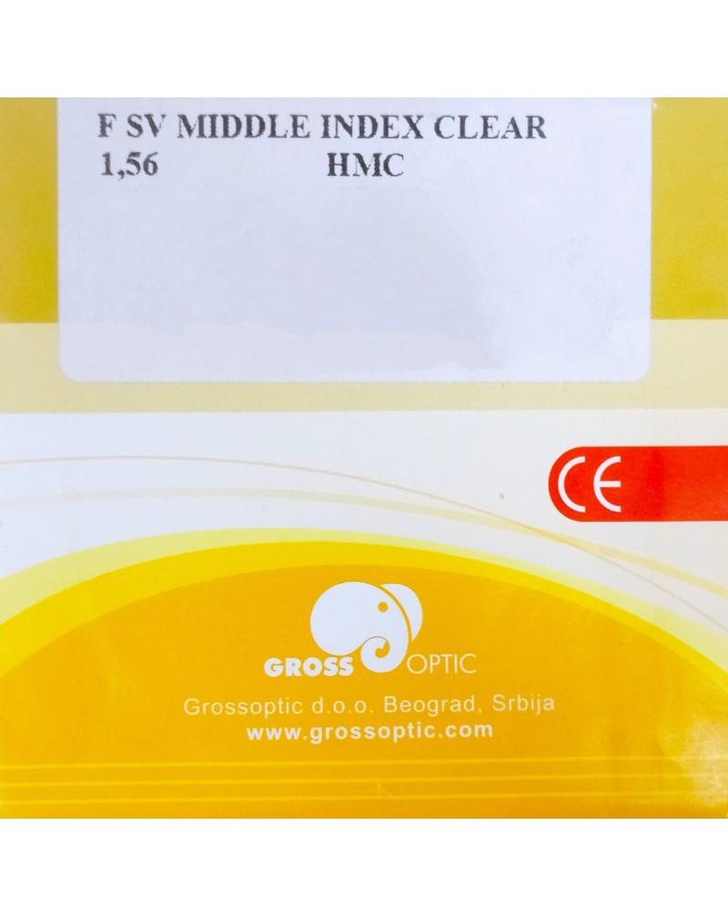 MIDDLE INDEX CLEAR 1.56 HMC/EMI/UV400
